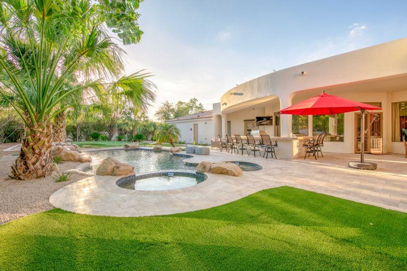 Sprawling Luxury Estate w/ Waterfall Pool & Spa